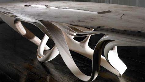 enignum furniture explores the potentials of laminated wood joseph walsh evolo