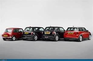 Mini Cooper Generations Ausmotive 187 Four Generations Of Mini Side By Side