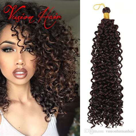 curly latch hook braids hair 2018 wholesale freetress crochet braiding curly hair