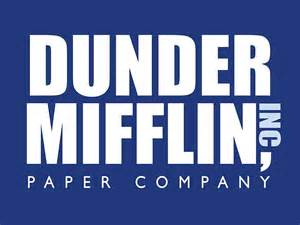 quot dunder mifflin the office logo quot metal prints by caseyward
