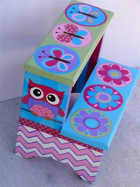Painted Childrens Step Stools by Children S Painted Step Stool By Cutekidcreations On