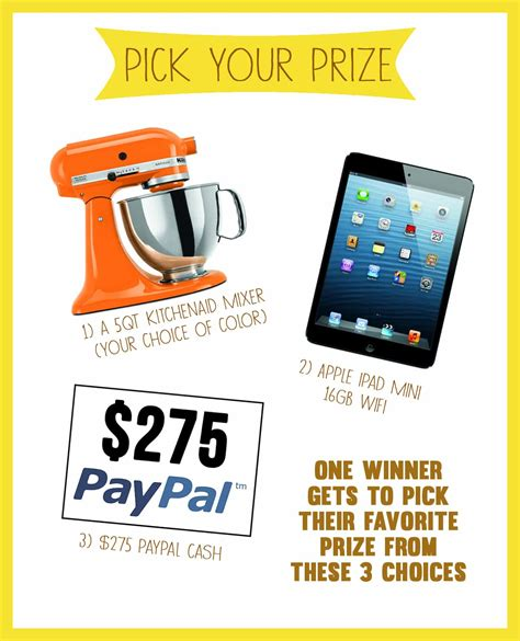 Giveaway Prize - kick off the fall season with pick your prize giveaway