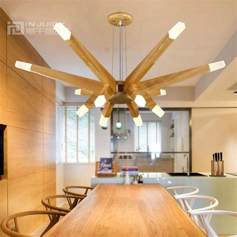 dining room ceiling light fixtures nordic modern led wood ceiling light l fixtures