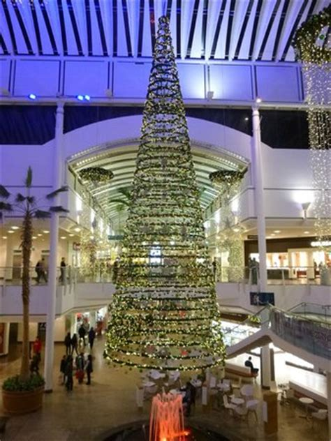 christmas tree in interior picture of the mall at cribbs