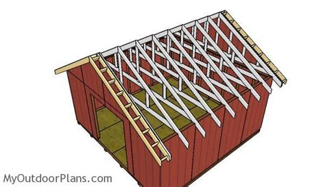 gable shed roof plans myoutdoorplans