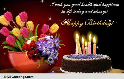 Wish You Health And Happiness. Free Happy Birthday eCards