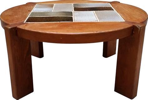 table de salon vintage table de salon vintage en orme massif 1970 design market
