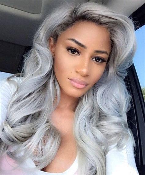 root ombre silver grey wavy wig black gray lace