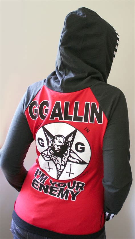 Hoodie Zipper Enemy Gg gg allin d ring hoodie by smarmy clothes on deviantart