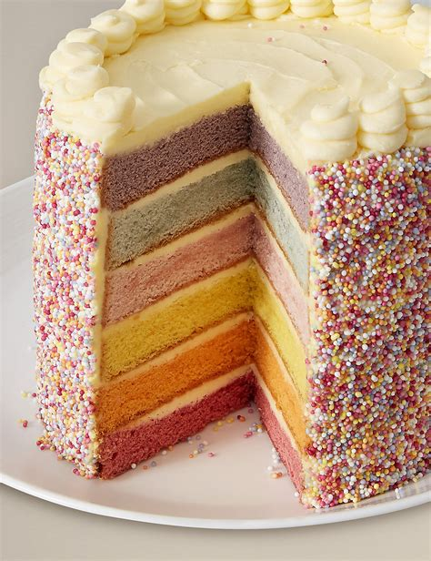 mms cake m s rainbow layers cake little spree style inspiration