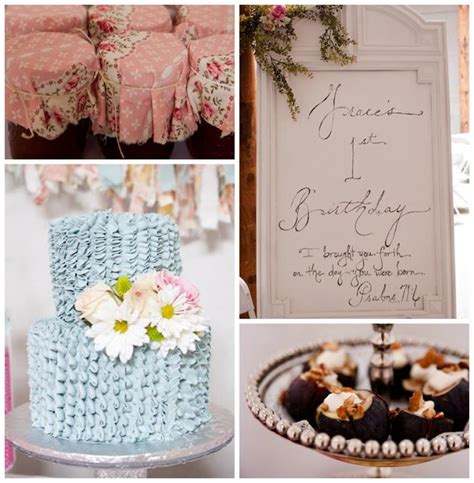 kara s party ideas shabby chic 1st birthday party with
