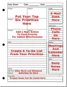 weekly priorities template printable daily planner the top six strategy for success