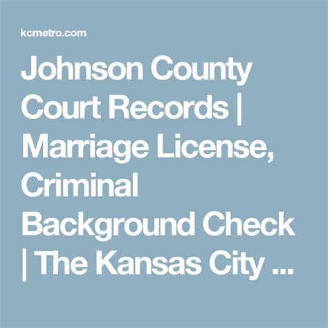 Johnson County Court Records 25 Best Ideas About Marriage License Records On Emergency Passport