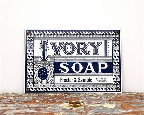 vintage bathroom sign vintage advertising sign ivory soap shop ad sign black