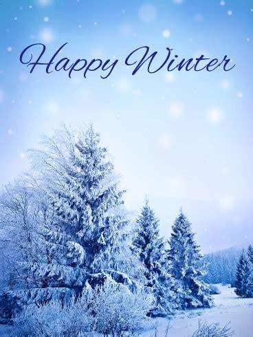 snowing winter card birthday greeting cards  davia
