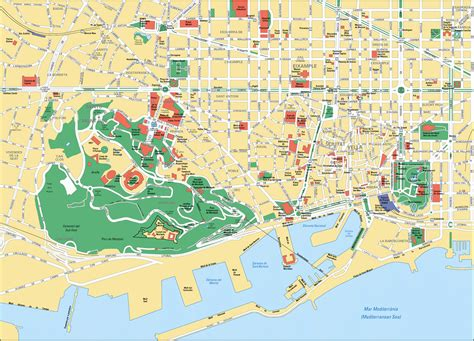 map of barcelona map of barcelona spain