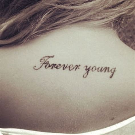 forever young tattoo forever quotes forever
