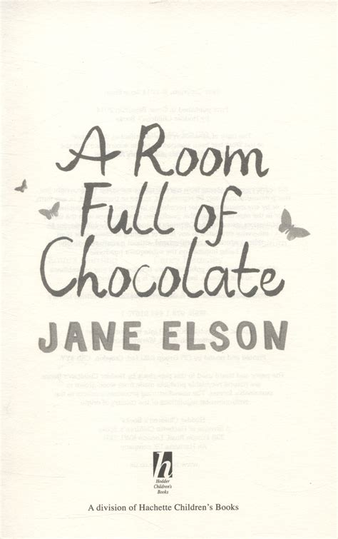 a room full of 1444916750 a room full of chocolate by elson jane 9781444916751 brownsbfs