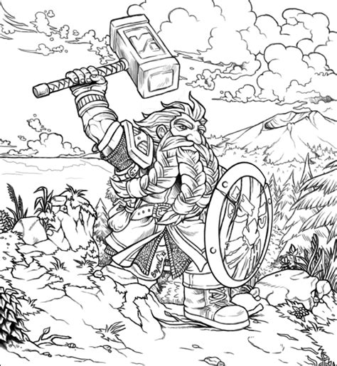 coloring pages of world of warcraft how to draw wow dwarf