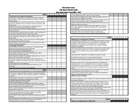 Common Standards Based Report Card Template by 162 Best Images About Report Cards On Report