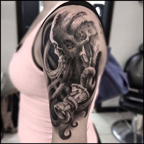 awesome skull tattoos awesome skull design for sleeve creativefan