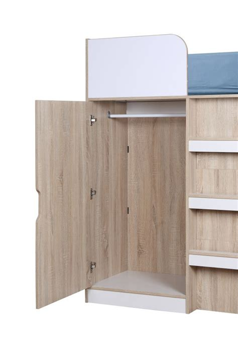 3 Sleeper Bunk Beds With Storage by Happy Beds Paddington 3ft High Sleeper Bunk Storage Bed Wardrobe Desk Mattresses Ebay