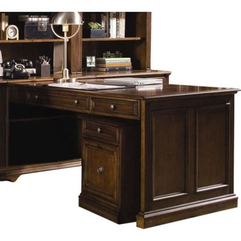 furniture brookhaven peninsula desk in cherry