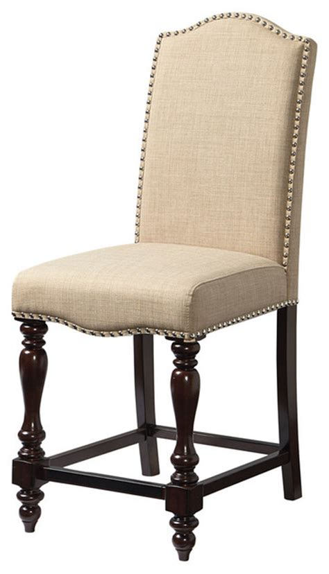 standard height for dining chair standard mcgregor counter height upholstered chair
