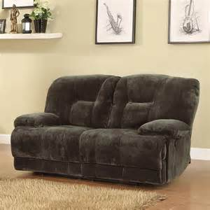 Microfiber Reclining Sofa And Loveseat Clifton Dual Power Reclining Loveseat Brown Sofas