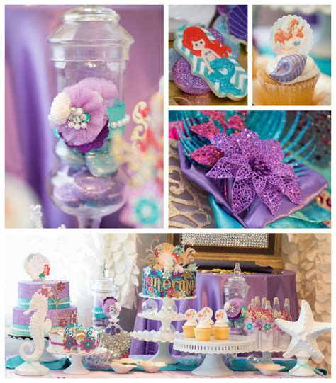 mermaid theme decorations pin mermaid pink aqua decorations cake ideas