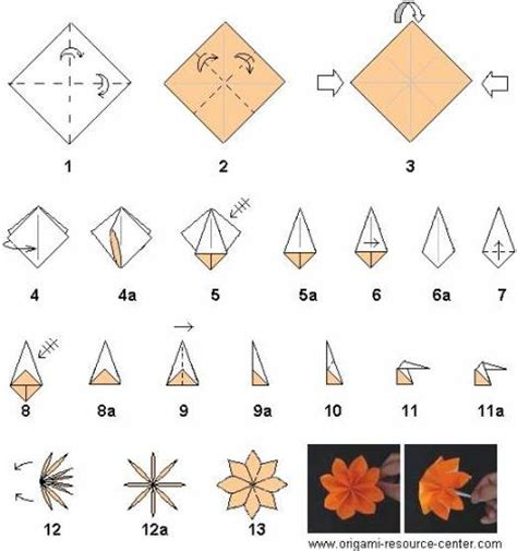 Paper Folding Flowers Step By Step - origami