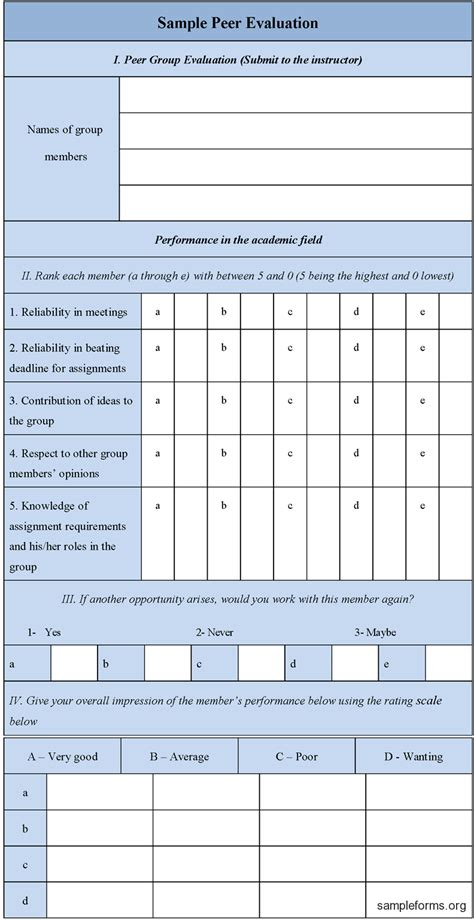 evaluation form pin sle evaluation form on