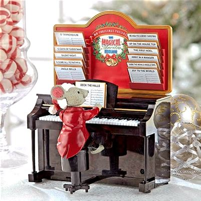 maestro mouse gold label mr magical maestro mouse with piano musical table top decoration mrc14687