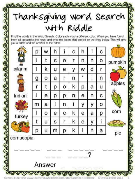 printable word search november thanksgiving word search puzzles worksheets thanksgiving