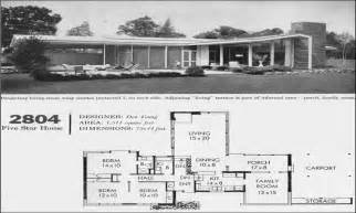 Mid Century House Plans Historic Mid Century Modern House Plans For Sale Today