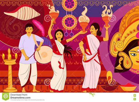 Decoration For Navratri At Home by Happy Mahalaya Cartoon Vector Cartoondealer Com 33916041