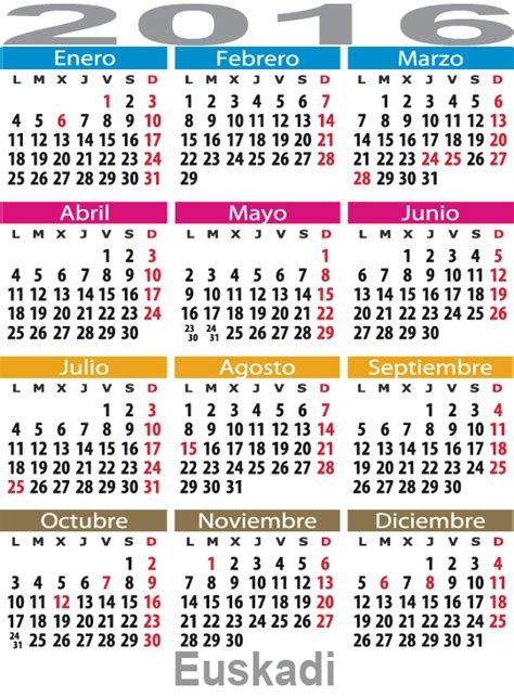 calendario vasco calendario laboral en espa 241 a