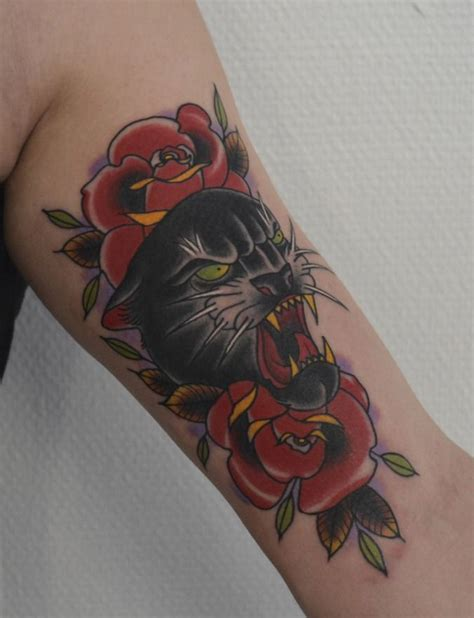 panther rose tattoo 35 best panther flower images on