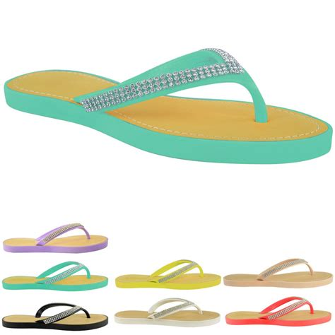 Jelly Shoes Sz37 New new jelly sandals womens diamante summer comforts flip flops size ebay