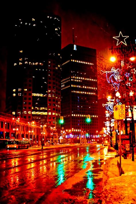 portage and main at christmas winnipeg image by carla