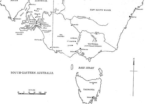 map of south east australia south eastern australia 1829 1857 map