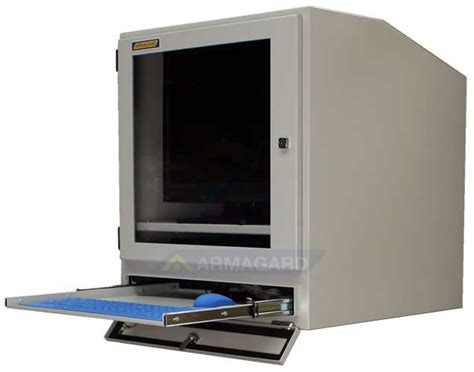 Desktop Cabinet by Computer Cabinet Ip54 Computer Screen Protection For