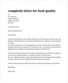 Complaint Letter About Bad Food And Service In A Restaurant 30 Complaint Letter Exles Sles