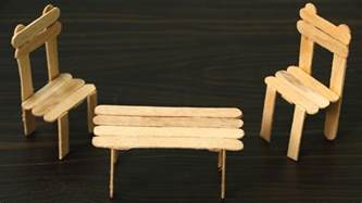 Popsicle Stick Chair by How To Make A Chair And Table Using Sticks