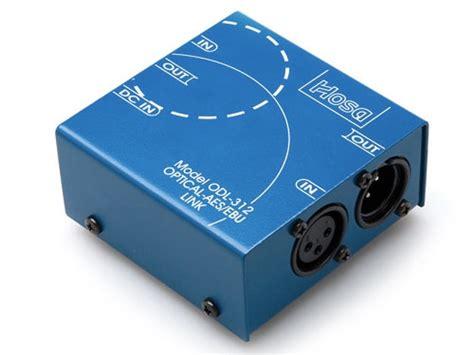 xlr format converter hosa odl 312 optical s dif toslink to aes ebu xlr