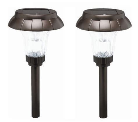 solar landscape lighting qvc westinghouse set of two mar solar light set qvc