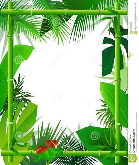 Floor Plan Design Template tropical background with bamboo frame royalty free stock