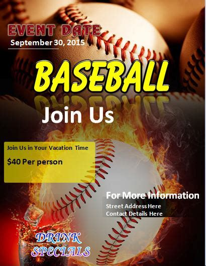 Softball Flyer Template