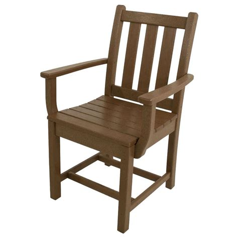 Polywood Dining Chairs Polywood Traditional Garden Teak All Weather Plastic