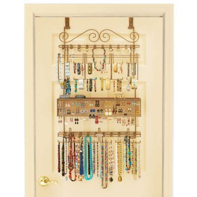 bed bath and beyond jewelry organizer over the door jewelry organizer in bronze search